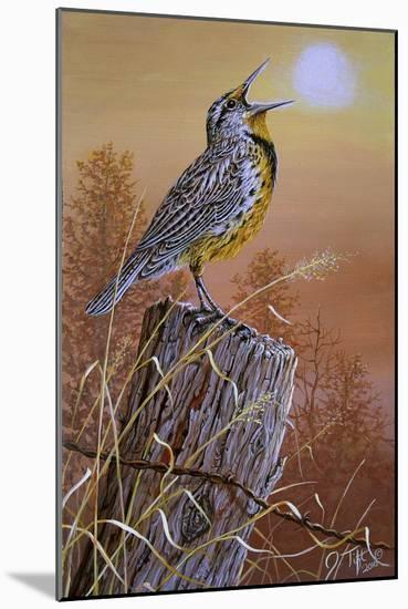 Meadowlark Painting-Jeff Tift-Mounted Giclee Print