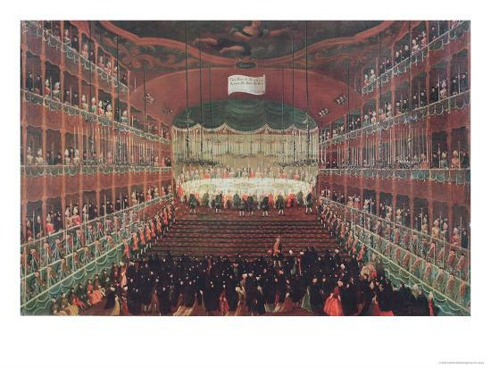 Meal at the San Benedetto Theatre-Gabriele Bella-Giclee Print