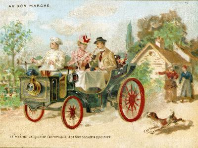Meals on Wheels', a Promotional Card for the Bon Marché Department Stores in Paris, C.1895--Giclee Print