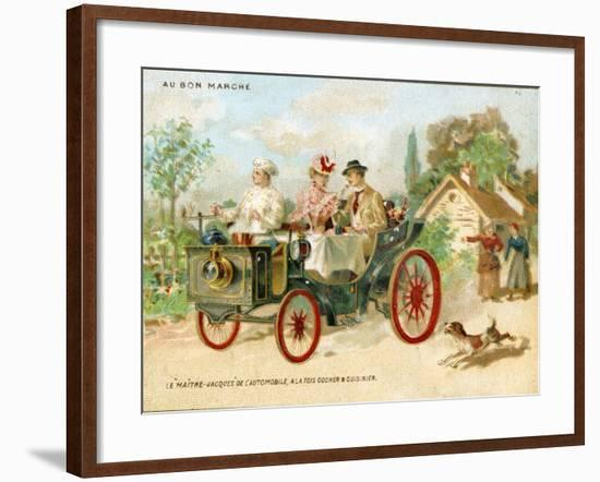 Meals on Wheels', a Promotional Card for the Bon Marché Department Stores in Paris, C.1895--Framed Giclee Print