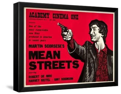 MEAN STREETS ROBERT DE NIRO MARTIN SCORSESE 1970/'S STYLE ART PRINT 30X 40CM