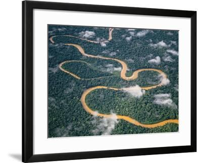 Meandering River, Tambopata National Reserve, Peru-Frans Lanting-Framed Photographic Print