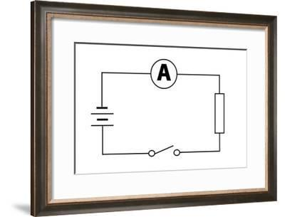 Measuring Electric Current-Sheila Terry-Framed Giclee Print