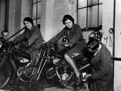 Measuring Motorcycle--Photographic Print
