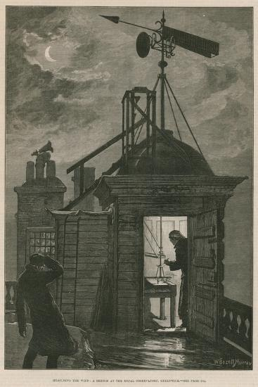 Measuring the Wind; a Sketch at the Royal Observatory, Greenwich-William Bazett Murray-Giclee Print