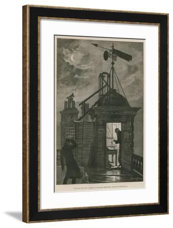 Measuring the Wind; a Sketch at the Royal Observatory, Greenwich-William Bazett Murray-Framed Giclee Print