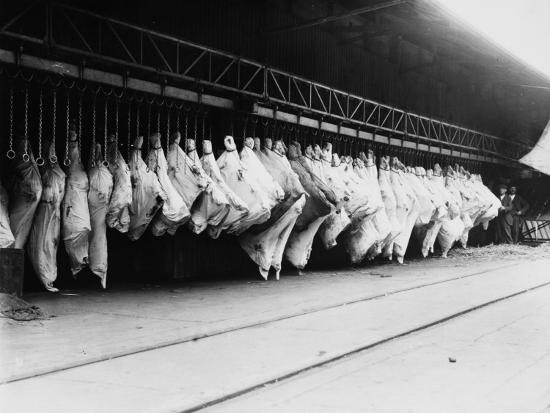 Meat in Storage, World War I-Robert Hunt-Photographic Print