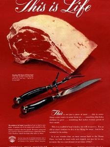 Meat, USA, 1940