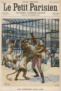 Lion-Tamer is Mauled Though Not Fatally During a Performance at the Paris Hippodrome by Meaulle
