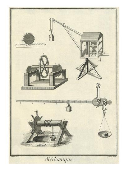 Mechanical Elements, 1777--Giclee Print