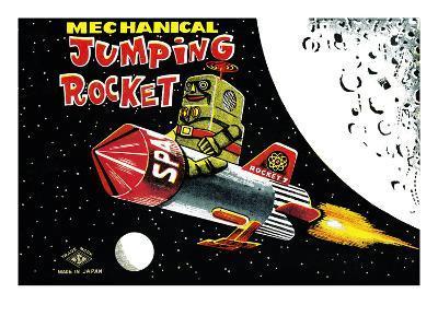 Mechanical Jumping Rocket--Art Print