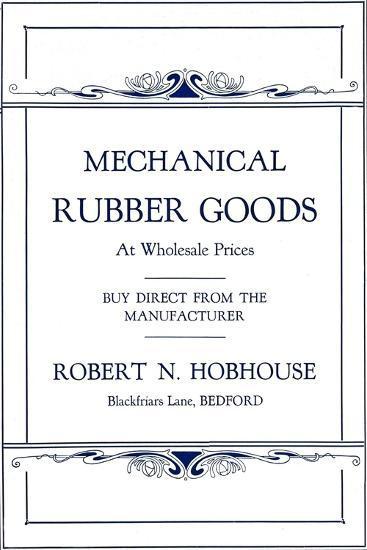 'Mechanical Rubber Goods - Robert N. Hobhouse advert', 1916-Unknown-Giclee Print