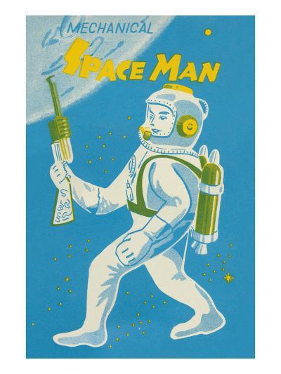 Mechanical Space Man--Art Print