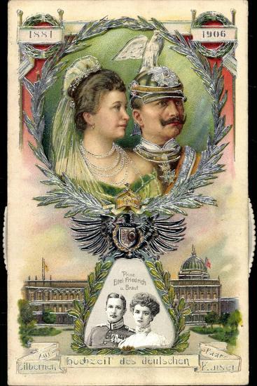 Mechanik Kaiserpaar, Preußen, Wilhelm II, Prinzen--Giclee Print