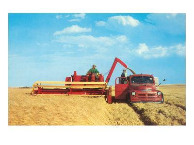 Mechanized Harvester--Art Print