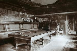 The Billiard Room, Imperial Palace, Bialowieza Forest, Russia, Late 19th Century by Mechkovsky