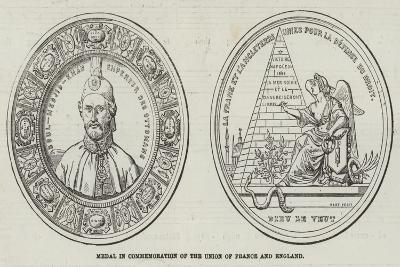 Medal in Commemoration of the Union of France and England--Giclee Print