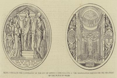 Medal Struck by the Corporation of the City of London Commemorative of the Thanksgiving Service for--Giclee Print