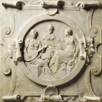 Medallion Depicting Scenes of Music-Pierre Bontemps-Giclee Print
