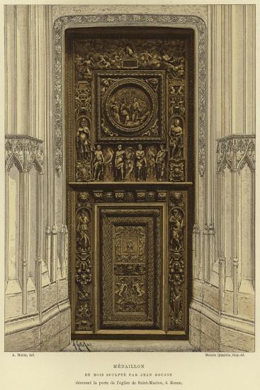 Medallion in Wood Carved by Jean Goujon in the Door of the Church of Saint-Maclou, Rouen--Giclee Print