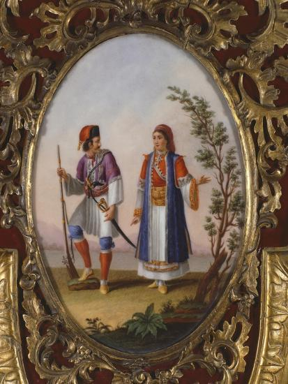 Medallion with Scene Depicting Traditional Dress from Campania, Italy-Raimondo Compagnini-Giclee Print