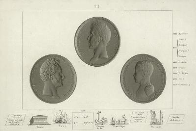 Medallions of Charles X of France and His Son Louis Antoine--Giclee Print