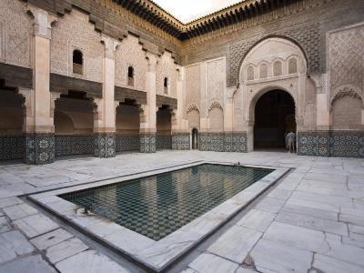 Medersa Ben Youssef, Marrakech, Morocco, North Africa, Africa-Marco Cristofori-Photographic Print