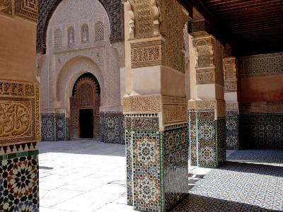 Medersa Ben Youssef, Medina, Marrakesh, Morroco-De Mann Jean-Pierre-Photographic Print