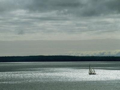A Solitary Sailboat on the Wisconsin Side of Lake Superior