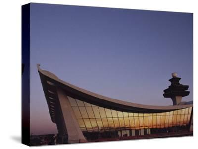 A Twilight View of Dulles International Airport Near Washington, D.C.
