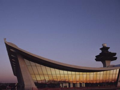 A Twilight View of Dulles International Airport Near Washington, D.C. by Medford Taylor