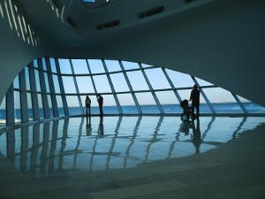 A View of the Inside of the Milwaukee Art Museum by Medford Taylor
