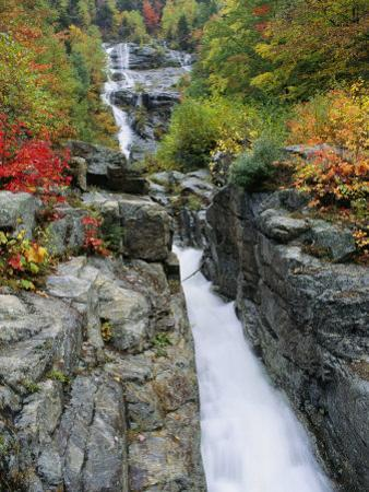 A View of the Silver Cascade Falls in New Hampshires White Mountains