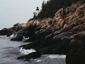 Bass Harbor Head Lighthouse, 32-Foot-High Structure, and Rocky Coast of Mount Desert Island, Maine by Medford Taylor