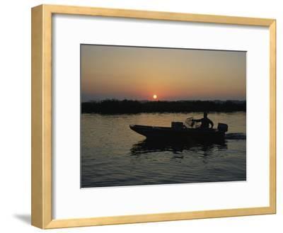 Crabbing off Delacroix Island at Sunrise