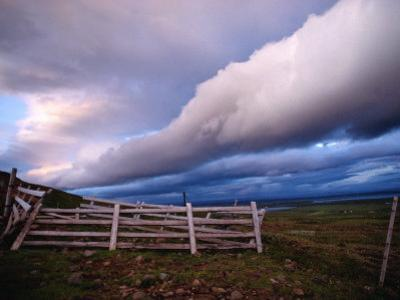 Dramatic Cloud Formations over a Pasture Near Selfoss