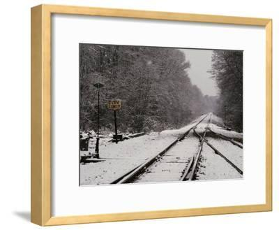 Railroad Tracks in Snow at the Courtland City Limit
