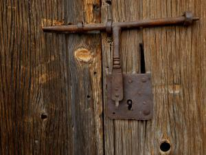 Rusty Barn Door Lock on an Old Hacienda by Medford Taylor