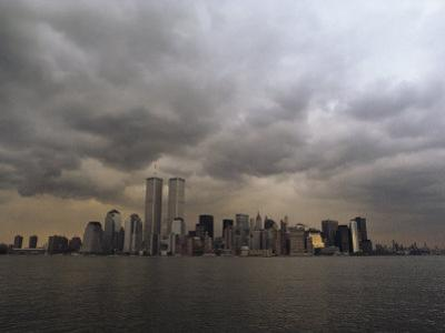 Storm Clouds over Lower Manhattan from the New Jersey Shore