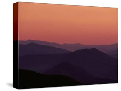 Twilight View of the Blue Ridge Mountains, Virginia
