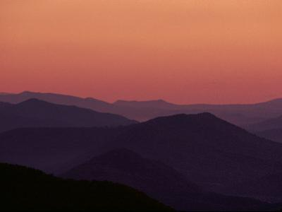 Twilight View of the Blue Ridge Mountains, Virginia by Medford Taylor