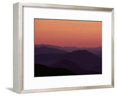 Twilight View of the Blue Ridge Mountains, Virginia