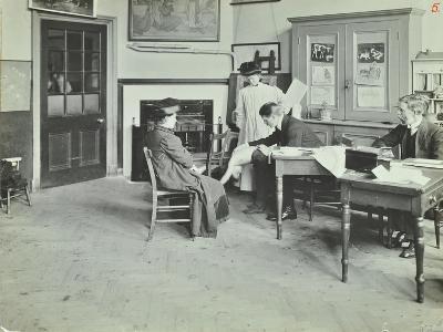 Medical Examination, Holland Street School, London, 1911--Photographic Print