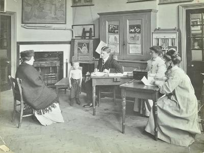 Medical Examination of a Boy, Holland Street School, London, 1911--Photographic Print