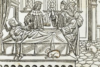 Medical History, Doctors with a Patient,, 16th Century--Giclee Print