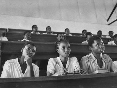 Medical Students Listening to a Lecture at University College-Alfred Eisenstaedt-Photographic Print
