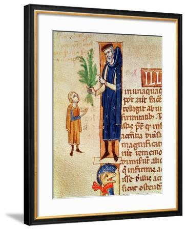 Medicinal Plants, Illustration from Traite de Medecine by Claudius Galenus--Framed Giclee Print