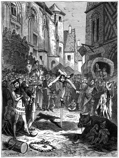 Medieval Acrobat and Street Entertainment, 1882-1884-G Jeanne-Giclee Print