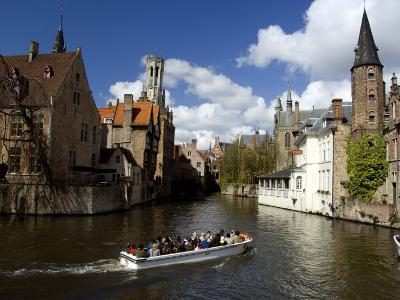 Medieval Architecture along the Canals of Brugge, Belgium-Cindy Miller Hopkins-Photographic Print
