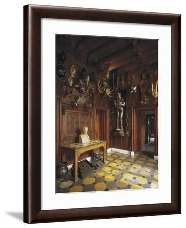 Medieval Arms and Armor at Entrance of Abbotsford House (19th Century)--Framed Photographic Print